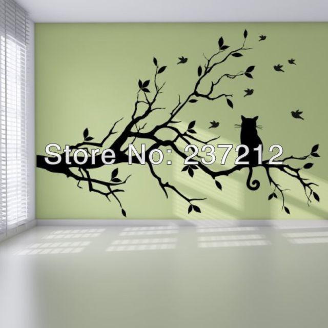 格安の壁のステッカー, 中国の卸売業者から直接購入する:   長い木の枝に猫ウォールステッカー·アートのデカール転送ビニールの猫の動物 タイトル壁のステッカー:長い木の枝に猫壁のステッカー      カテゴリ:花や木々      材料:高品質光沢ビニール      タイプ:壁デカール   すべての滑らかな表面に適した例えば: 塗装された