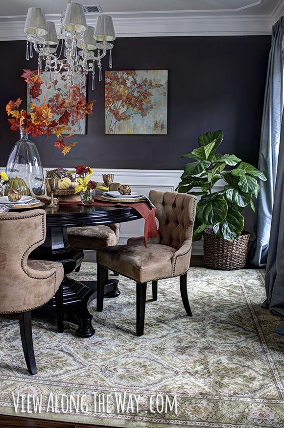 170 best images about dining room inspiration on pinterest farmhouse style dining room - Fall dining room table decorating ideas ...