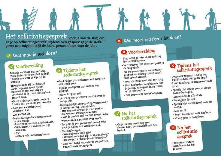 Zinnige tips voor je sollicitatiegesprek  (Vlaamstalig)