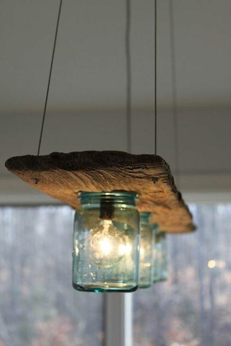 Deckenlampe Aus Altem Holz