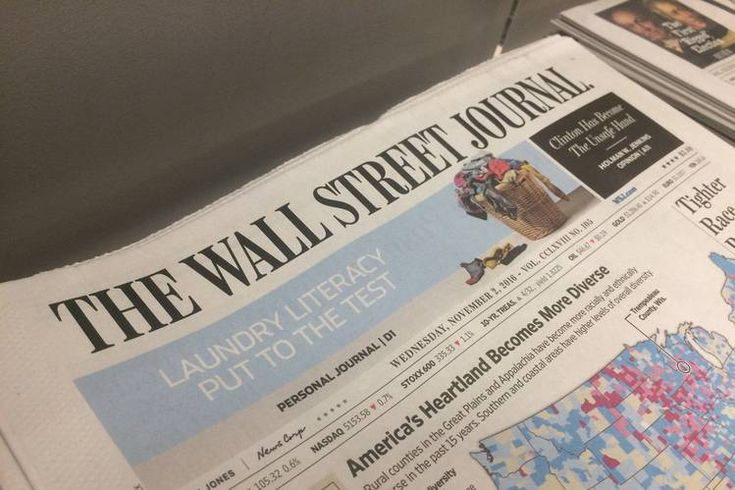 The Wall Street Journal to Combine Sections to Cope With Ad Decline: Print paper restructuring will mean less space for coverage of arts, local news; business coverage to remain largely the same(Wall Street Journal 02 November 2016)