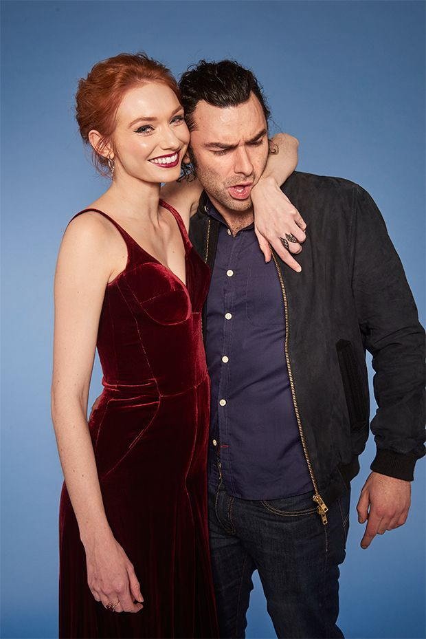 Poldark stars Aidan Turner and Eleanor Tomlinson are all smiles in gorgeous new photos ahead of series three