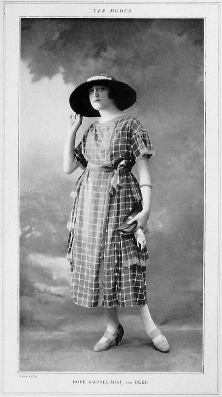 "Days Gone By - 1920 afternoon frock by atelier Beer, from ""Les Modes""."