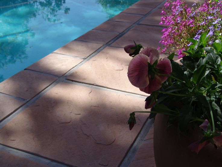 Eden Range Pavers 440x440x40mm and 215x215x40mm Pool Coping. Product available from Stonemarket (pty) Ltd, South Africa.