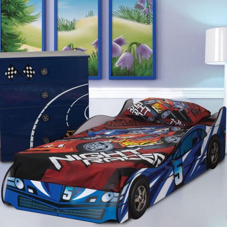 racing car bed frame childrens novelty blue 3ft single boys junior kids bedroom