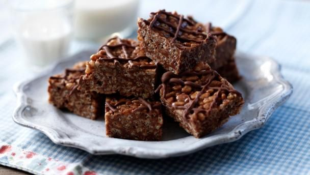 A wicked way with Mars bars and rice crispies, these crispy cakes are quick, easy and catnip to kids.