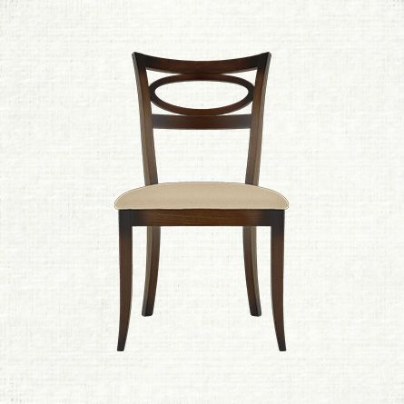 stella dining side chair with upholstered seat in
