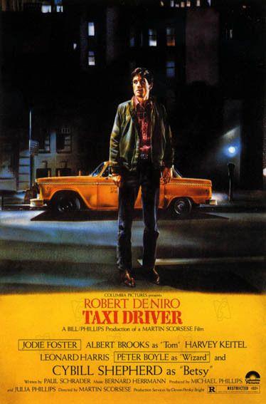 Taxi Driver est un film de Martin Scorsese avec Robert De Niro, Jodie Foster. Synopsis : Vétéran de la Guerre du Vietnam, Travis Bickle est chauffeur de taxi dans la ville de New York. Ses rencontres nocturn