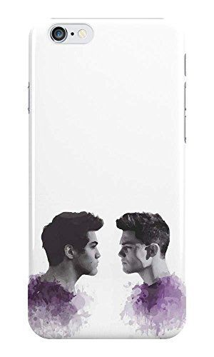 The Dolan Twins Phone Case - Ethan Dolan & Grayson Dolan Watercolour Cartoon - Hard Plastic, Snap-On Case - Fun Cases - iPhone 5 / 5s / SE