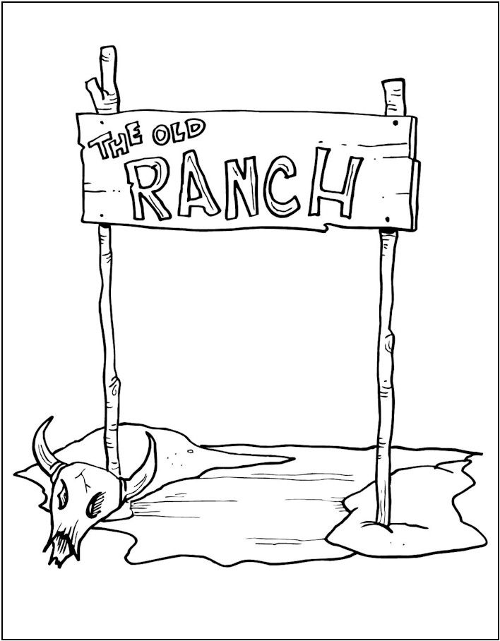wester ranch coloring page