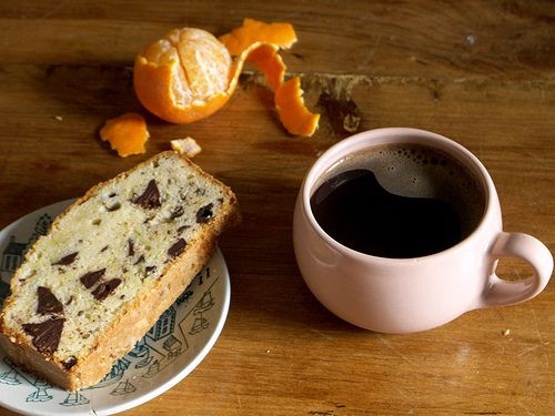 Clementine Pound Cake with Chocolate Chunks