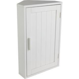 Hochwertiges Holz Eckregal Badezimmer Unterschrank   Weiß.