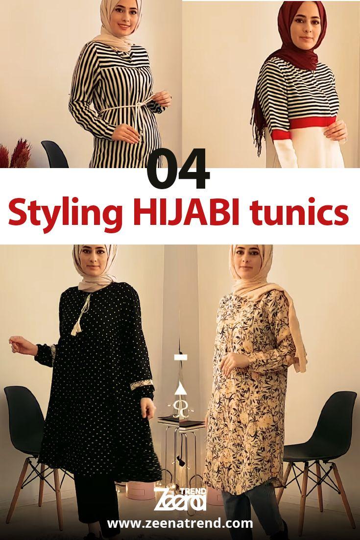 4 Styling Hijabi Tunics Muslim Women Clothing Hijabi Abaya Dress