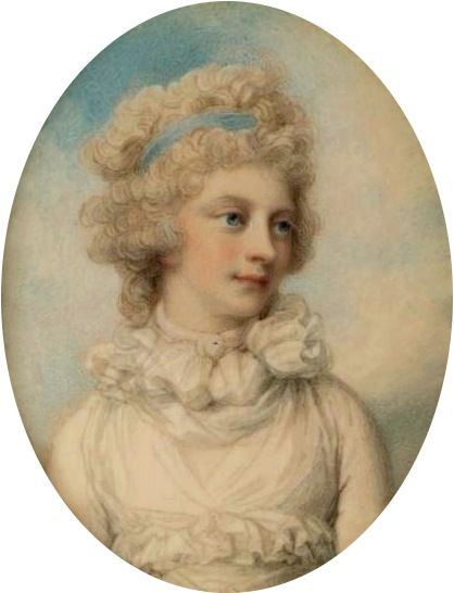 Sophia, Princess of the United Kingdom and Hanover; by Richard Cosway, c. 1792. She was the daughter of King George III of Great Britain.