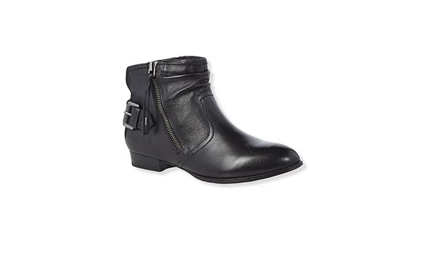 "Zipped Biker Boot. ""These flat biker boots will add a touch of rock & roll appeal to any outfit."""