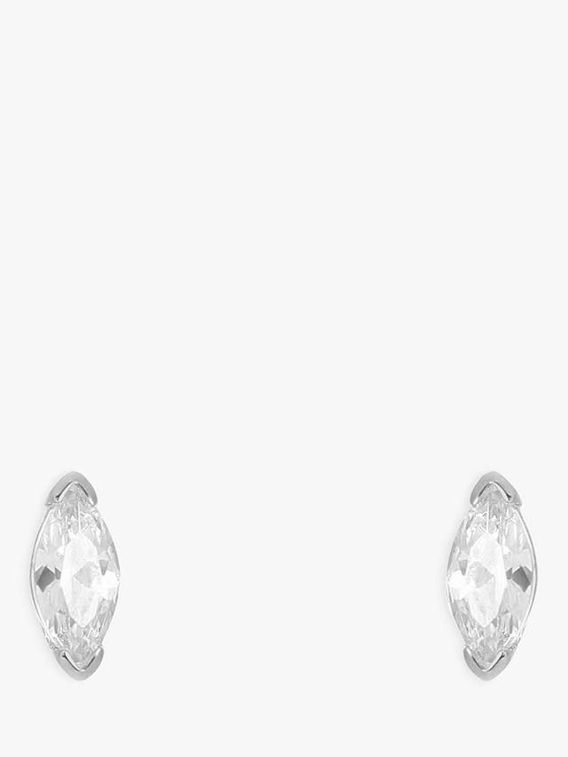 074a9d2aa V by Laura Vann Stella Marquise Cubic Zirconia Stud Earrings at John Lewis  & Partners