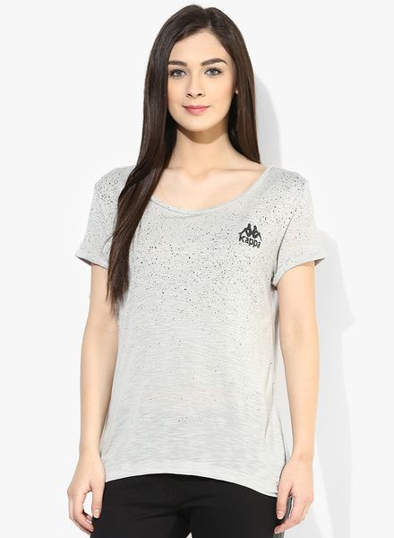 Buy Kappa Grey Printed T Shirt for Women Online India, Best Prices, Reviews | KA144WA57UAOINDFAS