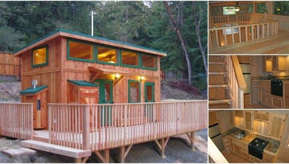 Check Out The Deck On The Hunter Green Cabin By Molecule Tiny Homes Shed To Tiny House Cabins In The Woods Tiny House