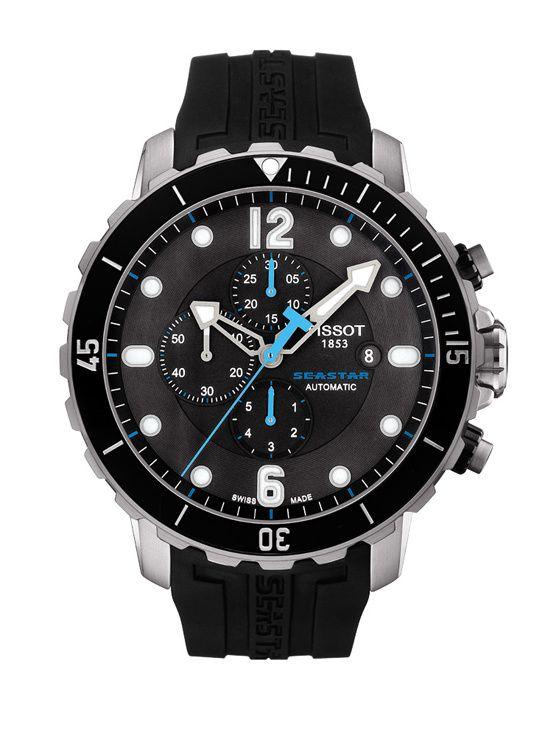 Tissot montre Seastar 1000 http://www.vogue.fr/vogue-hommes/montres/diaporama/montres-plongee-horlogerie-homme-ete/19864/image/1040725#!tissot-montre-seastar-1000