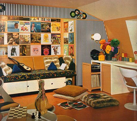 Exciting 1960s Living Room Design