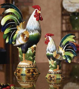 Roosters & Chickens - J. Willfred Ceramics