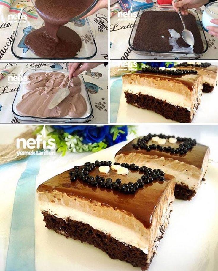 """10.5k Likes, 203 Comments - Nefis Yemek Tarifleri (@nefisyemektarifleri) on Instagram: """"Nutellalı Islak Pasta (Şahane)  tarif için @esinleharikalezzetler 'e teşekkürler  Keki…"""""""