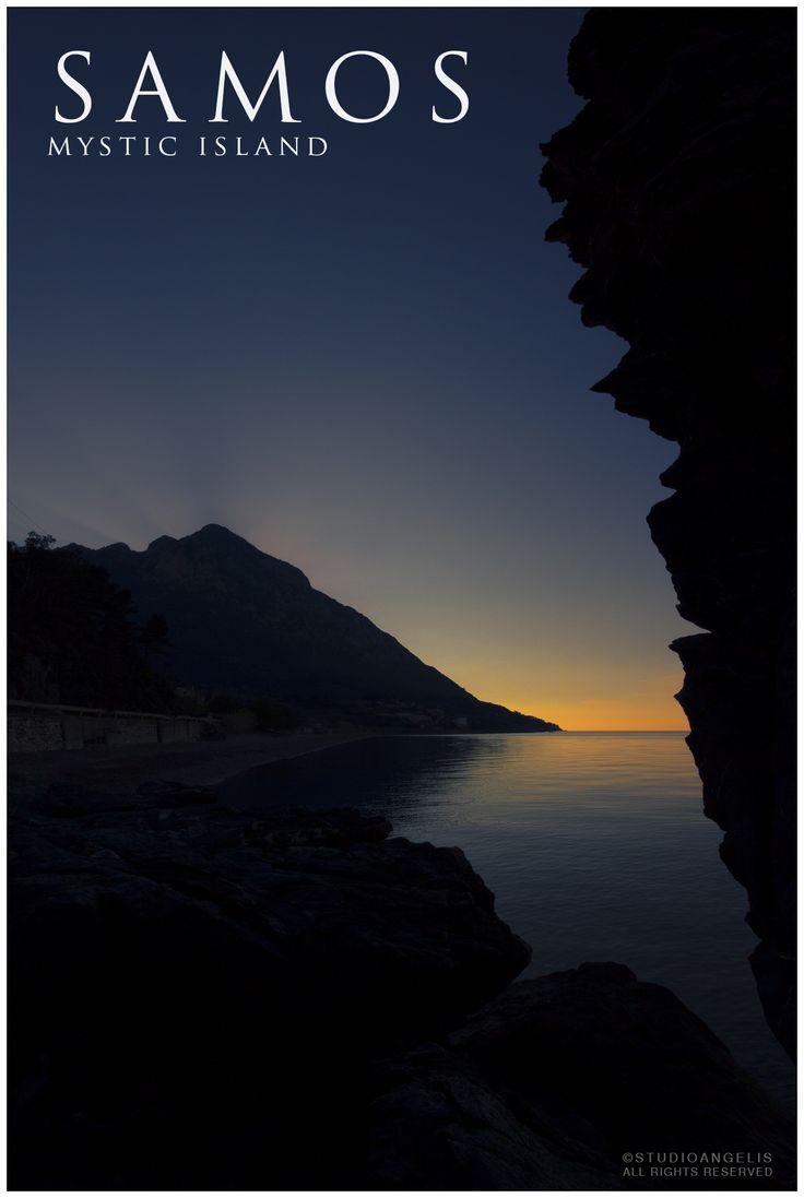 Petalides beach right after sunset!