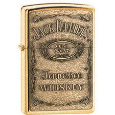 Jack Daniels Brass Emblem Zippo Refillable Lighter