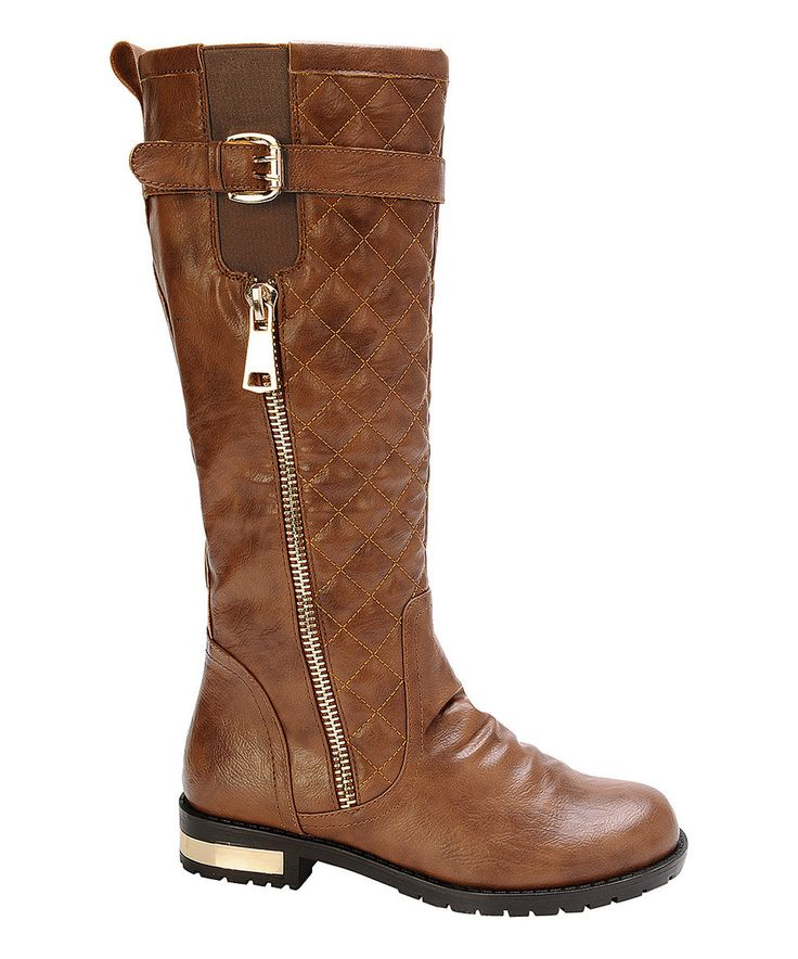Another great find on #zulily! Tan Quilted Gold Coast Boot by Nature Breeze #zulilyfinds