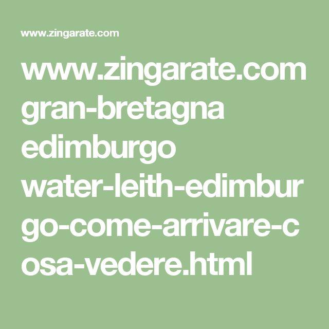 www.zingarate.com gran-bretagna edimburgo water-leith-edimburgo-come-arrivare-cosa-vedere.html