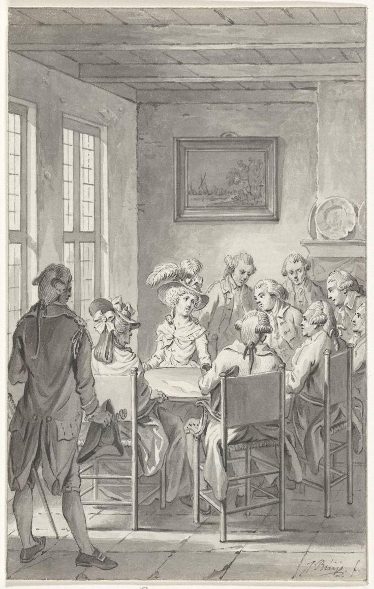 Onderhoud met de prinses te Goejanverwellesluis, Jacobus Buys, 1795. Bron: Rijksmuseum, Amsterdam