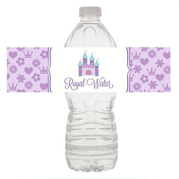 Princess Water Bottle Wrapper, Princess Birthday Water Bottle, Princess Water Wrapper, Princess Birthday Party Decorations