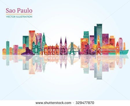 Sao Paulo detailed skyline. Vector illustration - stock vector