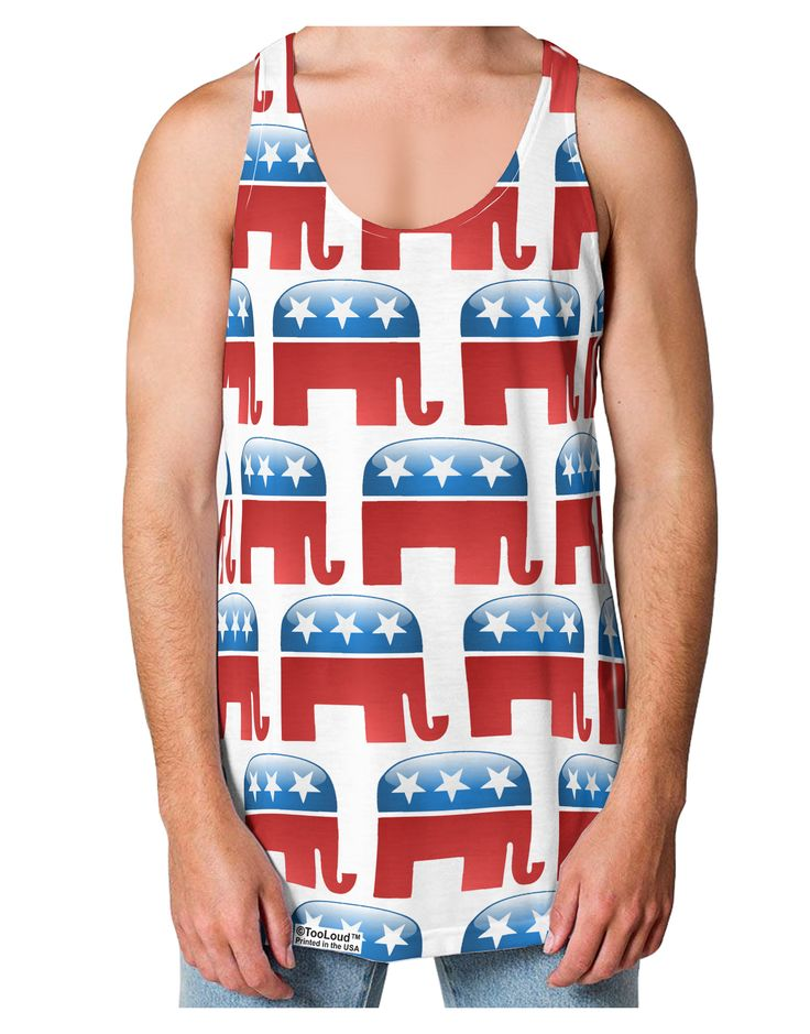 TooLoud Republican Symbol All Over Loose Tank Top Dual Sided All Over Print