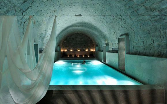 Boutique Hotel Spa In Zurich Inside The Mountain Take The Time To Relax In Bubbling Wooden Bathtubs And The Irish Roman Bath Hotel Hotel Motel Hotel Spa