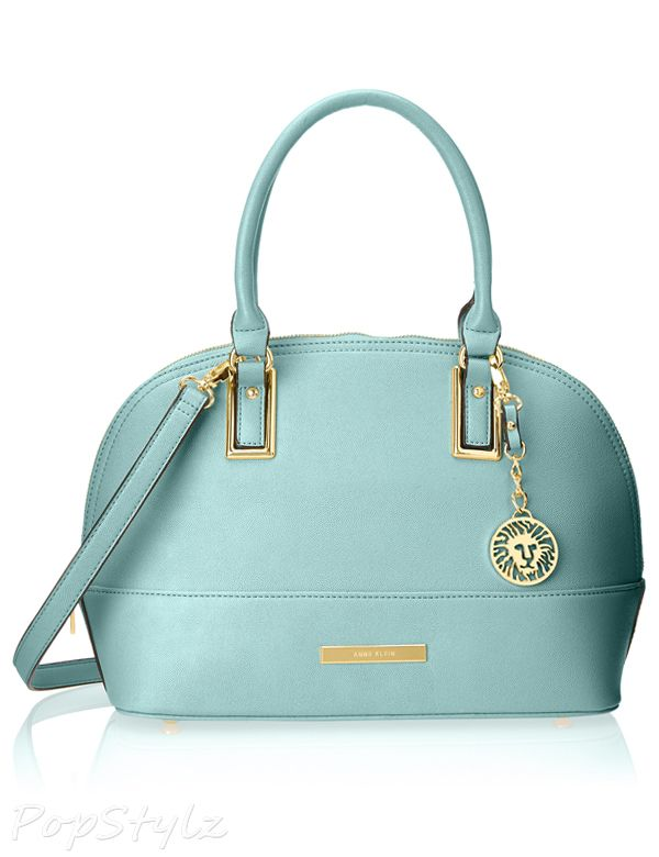 Anne Klein Shimmer Down Satchel Handbag
