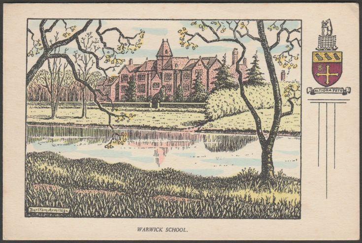 Bertram Armitage - Warwick School, Warwickshire, c.1940s - Postcard