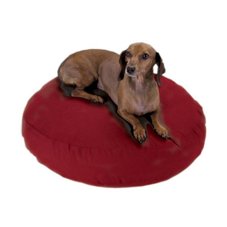 Snoozer Round Dog Bed Red - 61201