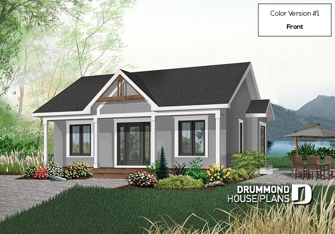 house plan Quebec No. 2127 | Ranch style house plans, Cottage ...