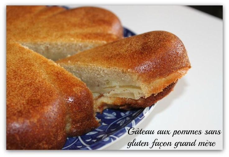Gâteau aux pommes sans gluten façon grand mère
