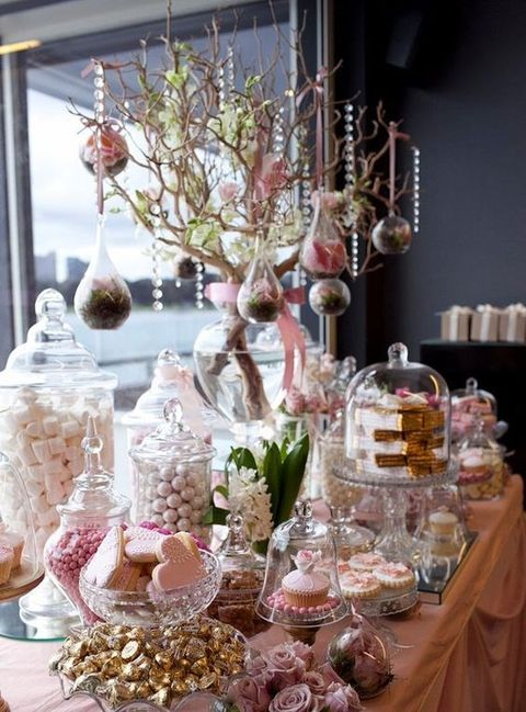 Best 25 elegant candy buffet ideas on pinterest wedding for Candy bar for weddings receptions