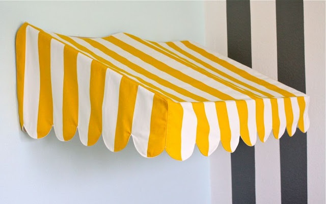 Bistro Awning Tutorial... maybe some day we'll have a playroom and can make this!