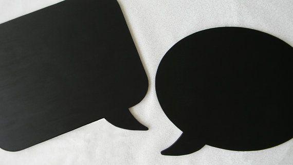 Chalkboard Speech Bubbles Set of 2 1 Oval 1 by MyHeartfeltDesigns, $21.00