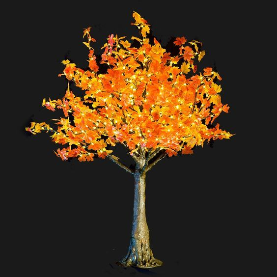 Bright Baum LED Artificial Tree, 5.4-Feet, Amber Maple -- More info could be found at the image url.