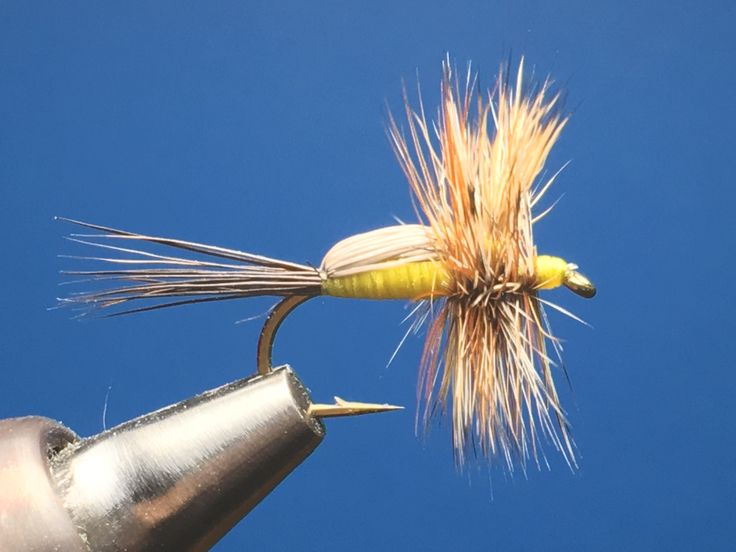 Yellow Humpy / Tied by Jim Hershey