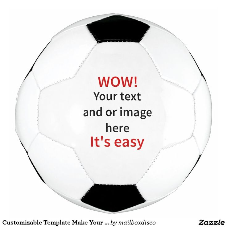Customizable Template Make Your Own Soccer Ball