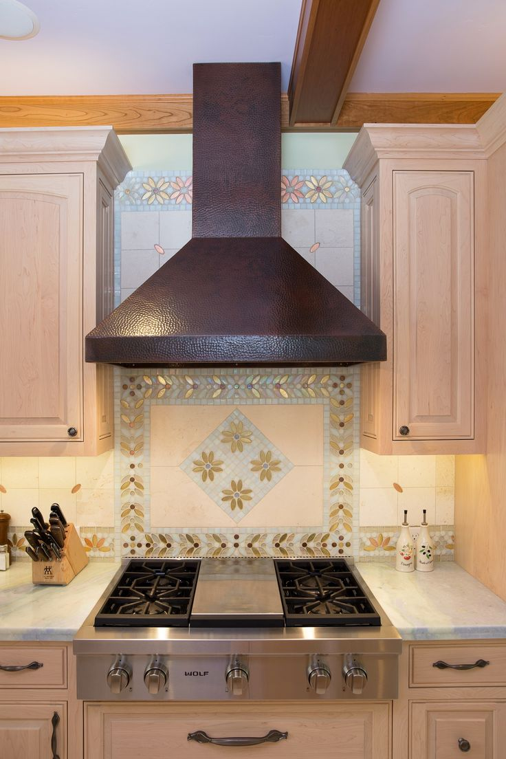 Simple native kitchen design - Native Trails Hand Hammered Copper Range Hood The Chateau In This Kitchen By