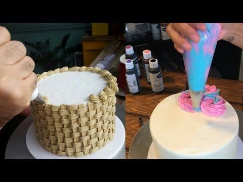 Идеи техники украшения тортов Как собрать и украсить торт