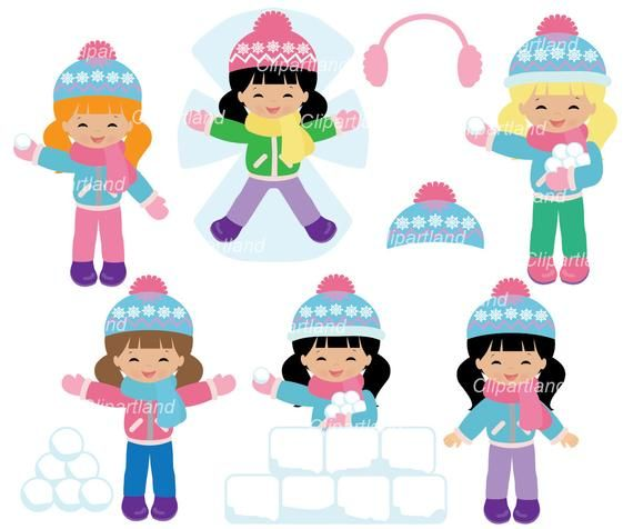 On Sale Instant Download Winter Girl Clip Art Cwg 1 Etsy In 2021 Clip Art Girls Clips Printed Birthday