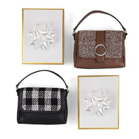 Magnolia and Vine Versa Bag with your choice of Draper Accent Brown Multi or Checkmate Accent Black/White ~ Get this interchangeable bag with many choices of accents at www.SparkleSnaps.com